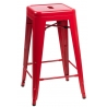 Paris 66 insp. Tolix red metal bar stool D2.Design