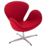 Designerski Fotel Cup insp. Swan Chair Cashmere Czerwony D2.Design do salonu i sypialni.