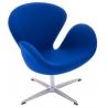 Designerski Fotel Cup insp. Swan Chair Cashmere Niebieski D2.Design do salonu i sypialni.