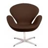 Designerski Fotel Cup insp. Swan Chair Cashmere Brązowy D2.Design do salonu i sypialni.