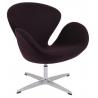 Designerski Fotel Cup insp. Swan Chair Cashmere Ciemny brąz D2.Design do salonu i sypialni.