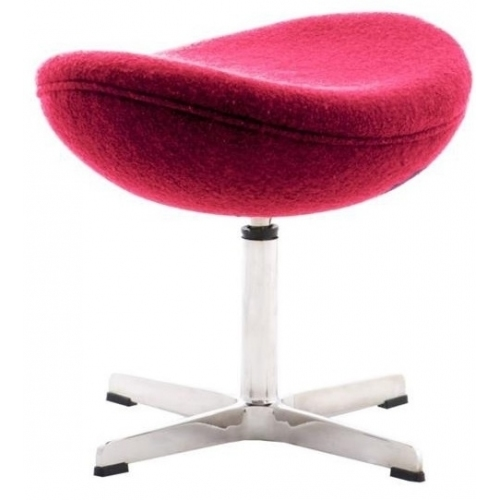 Jajo Chair red upholstered footstool insp. D2.Design