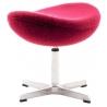 Stylowy Podnóżek tapicerowany insp. Jajo Chair Czerwony D2.Design do fotela.