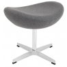 Jajo Chair light grey upholstered footstool insp. D2.Design