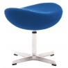 Stylowy Podnóżek tapicerowany insp. Jajo Chair Niebieski D2.Design do fotela.