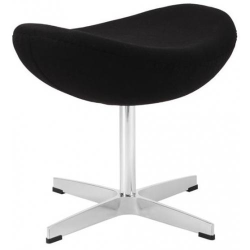 Jajo Chair black upholstered footstool insp. D2.Design