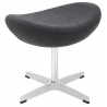 Jajo Chair dark grey upholstered footstool insp. D2.Design