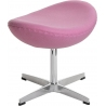 Jajo Chair pink upholstered footstool insp. D2.Design