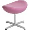 Stylowy Podnóżek tapicerowany insp. Jajo Chair D2.Design do salonu. Kolor pomarańczowy
