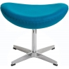 Stylowy Podnóżek tapicerowany insp. Jajo Chair Jasno niebieski D2.Design do fotela.