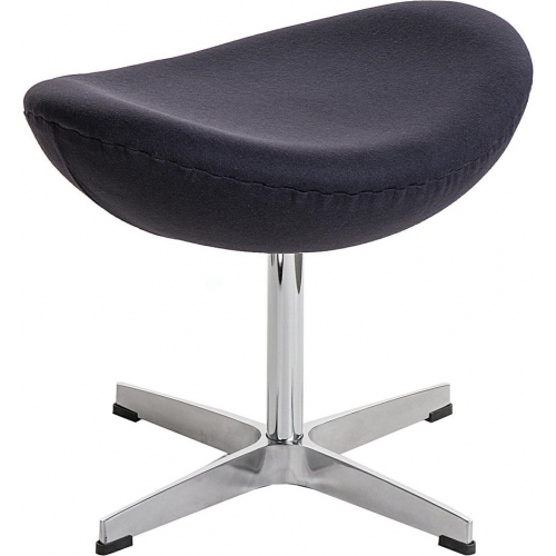 Jajo Chair graphite upholstered footstool insp. D2.Design