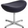 Stylowy Podnóżek tapicerowany insp. Jajo Chair Grafitowy D2.Design do fotela.