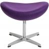 Stylowy Podnóżek tapicerowany insp. Jajo Chair Jasno fioletowy D2.Design do fotela.