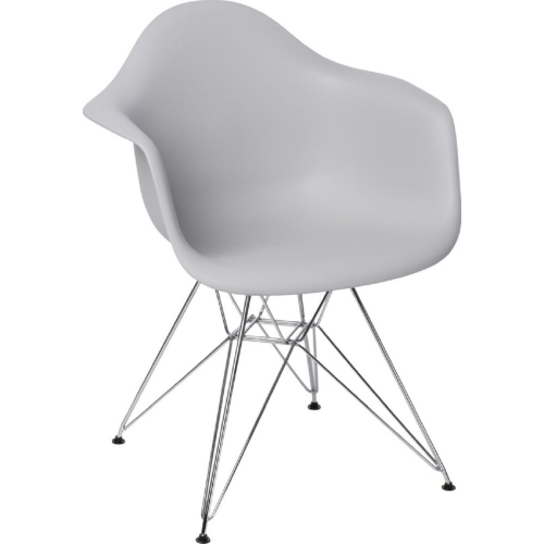 DAR Arm Chair light grey chair with armrests D2.Design