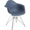 DAR Arm Chair dark grey chair with armrests D2.Design