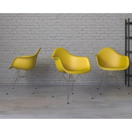 DAR Arm Chair yellow chair with armrests D2.Design