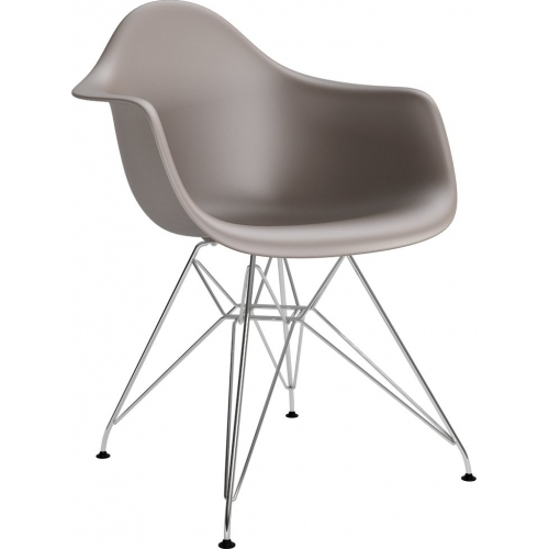DAR Arm Chair taupe chair with armrests D2.Design