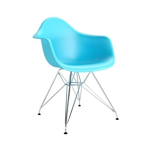 DAR Arm Chair blue chair with armrests D2.Design