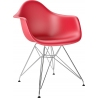 DAR Arm Chair red chair with armrests D2.Design