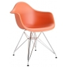 DAR Arm Chair orange chair with armrests D2.Design