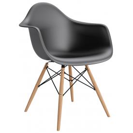 Daw black scandinavian chair with armrests D2.Design