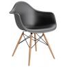 Designerskie Krzesło z podłokietnikami Daw D2.Design do jadalni. Kolor biały