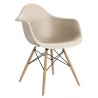 Daw beige scandinavian chair with armrests D2.Design