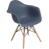 Daw dark grey scandinavian chair with armrests D2.Design