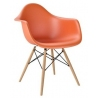 Daw orange plastic chair with armrests D2.Design