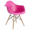 Daw pink plastic chair with armrests D2.Design