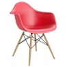 Daw red plastic chair with armrests D2.Design