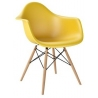 Daw yellow scandinavian chair with armrests D2.Design