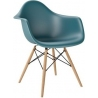 Daw sea-blue scandinavian chair with armrests D2.Design