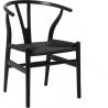 Designerskie Krzesło drewniane Wicker Czarne D2.Design do jadalni i salonu.