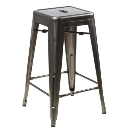 Designerski Metalowy stołek barowy Paris 75 High insp. Tolix D2.Design do kuchni w cenie 199