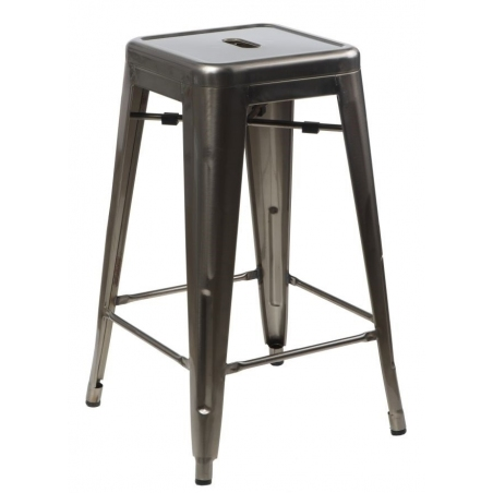 Paris 75 High insp. Tolix metalic metal bar stool D2.Design