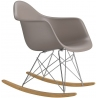 RAR taupe rocking chair with armrests D2.Design