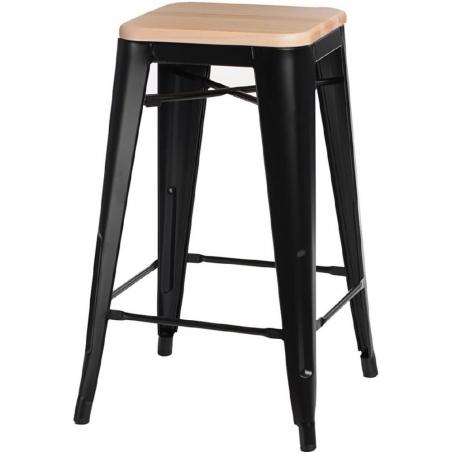 Paris 75 Wood natural&black metal bar stool D2.Design