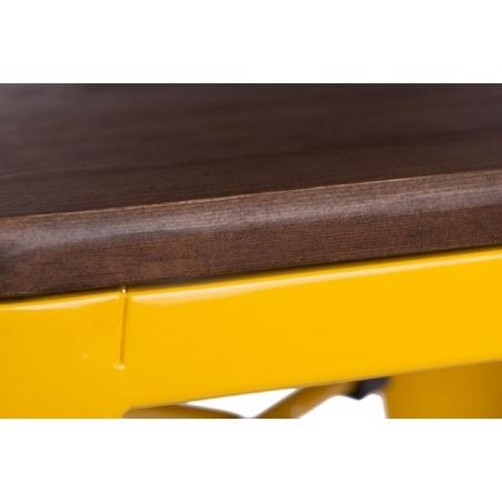 Paris 75 Wood walnut&yellow metal bar stool D2.Design