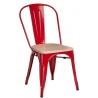 Paris Wood natural&red metal chair D2.Design
