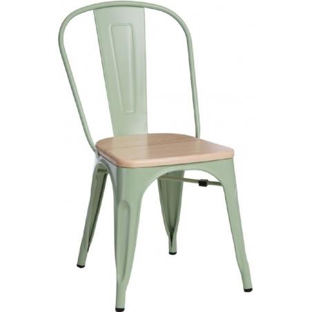 Paris Wood natural&green metal chair D2.Design