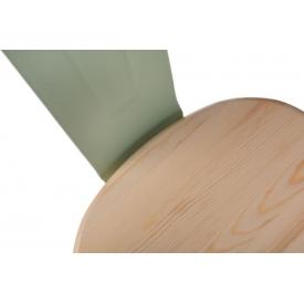 Stylowy Taboret metalowy Paris Wood Orzech D2.Design do kuchni. Kolor biały, czarny, metalowy, niebieski, żółty, srebrny