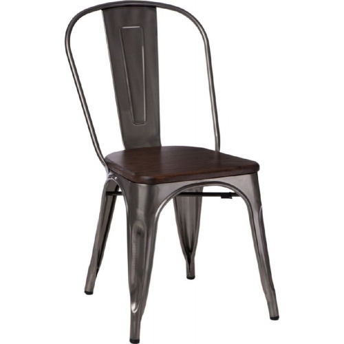 Paris Wood walnut&metalic metal chair D2.Design