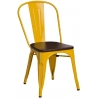 Paris Wood walnut&yellow metal chair D2.Design
