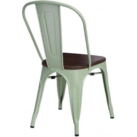 Paris Wood walnut&green metal chair D2.Design
