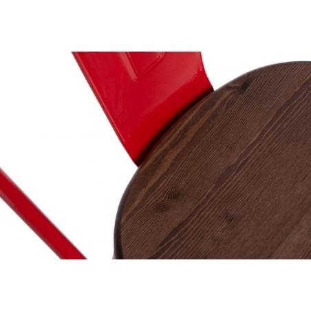 Paris Wood walnut&red metal chair D2.Design