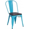 Paris Wood walnut&blue metal chair D2.Design