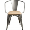 Paris Arms Wood natural&metalic metal chair with armrests D2.Design