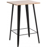 Paris Wood 60x60 black&natural square bar table D2.Design