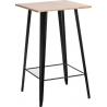 Stylowy Stół barowy Paris Wood Naturalny 60 D2.Design do kuchni. Kolor biały